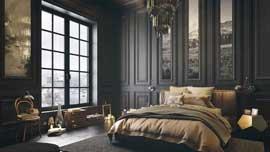 آموزش مدلسازی اتاق خواب مستر خاکستری